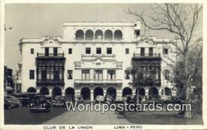 Lima, Peru Club de la Union  Club de la Union