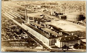 Vintage Detroit MI Real Photo RPPC Postcard LINCOLN MOTOR COMPANY Plant Ford