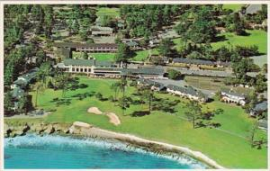 California Pebble Beach Golf Course Aerial View Of Lodge and 18th Hole