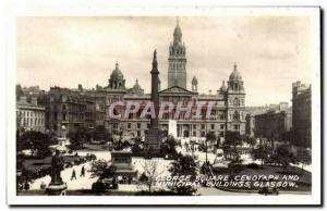 Modern Postcard George Square Cenotaph and municipal buildings Glasgow Scotla...