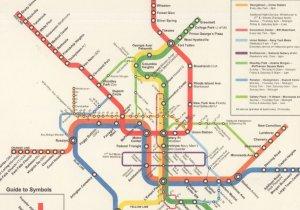 Washington USA Subway Train Map Underground Postcard