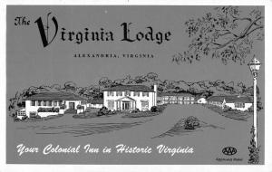 Alexandria Virginia Lodge Colonial Inn Antique Postcard K670613