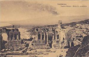 Teatro Greco- Etna In Eruzione, Taormina (Sicily), Italy, 1900-1910s