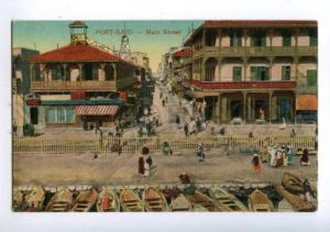 140806 Port Said Egypt PORT-SAID Main Street ADVERTISING OLD