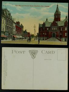 City Hall and Downie Street Stratford c 1905-10