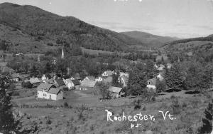 Rochester Vermont Birdseye View Of City Real Photo Antique Postcard K90511