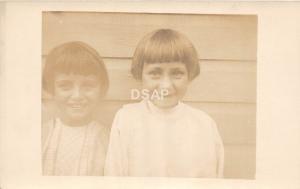 C17/ People Real Photo RPPC Postcard c1910 Smiling Kids Haircut 1