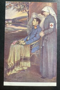 Mint Czechoslovakia PPC Picture Postcard Red Cross Soldier Assistance