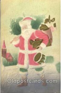 Santa Claus Christmas 1909 postal used 1909