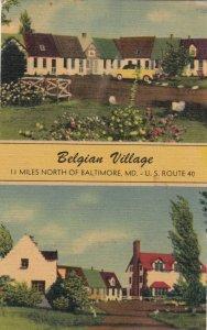 Nr BALTIMORE, Maryland, 1948 ; Belgian Village