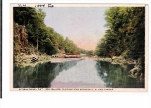 THOUSAND ISLANDS, New York, 1900-1910's; International Rift, Dividing Line Be...