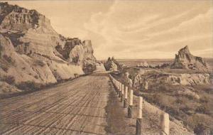 South Dakota Wall Cedar Pass Badlands National Monument Albertype
