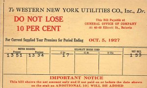 New York Utilities Co New York, USA Advertising 1927