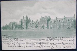 Trinity College Hartford CT 1908 Souvenir Post Card Co UDB