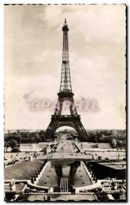 Old Postcard Paris And Its Wonders the Eiffel Tower View From Palais De Chaillot