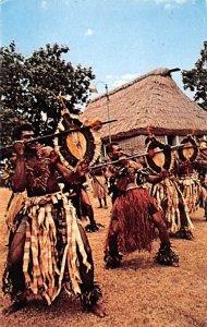 Meke Wese, Fijian Spear Dance Fiji Postal Used Unknown, Missing Stamp