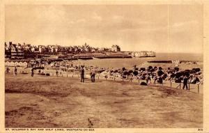 Westgate-on-Sea, St. Mildred's Bay and Golf Links, animated, Thanet, Greetings