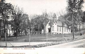 North Bridgton ME~Tennis or Badminton Court Below Church or School~Dirt Rd~1907