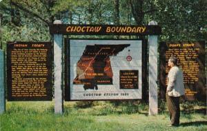 Mississippi Natchez Trace Parkway Choctaw Boundary 1956