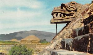 Mexico Old Vintage Antique Post Card Pyramids of Teotihuacan Writing on back