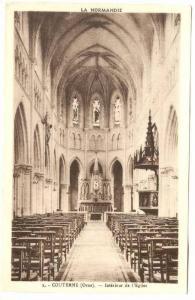RP, Interieur De l'Eglise, Couterne (Orne), France, 1920-1940s
