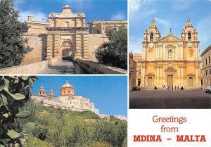 Malta Greetings from Mdina Church Eglise