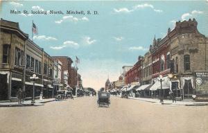 Mitchell South Dakota~Main Street~Diehl Drug~Ferris Jewelry~Shoes~Ice Cream~1912