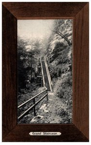 New York  Watkins Glen Grand Staircase    , Wood Border