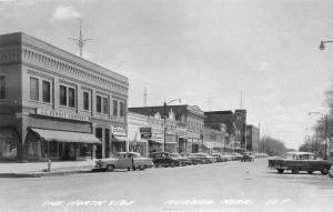 Aurora Nebraska~North Side of Square~Main Street~JC Penney~1950s Cars~1967 RPPC
