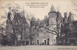 MONTREUIL-BELLAY, Maine Et Loire, France, 1900-1910's; Le Chateau, Cour Inter...