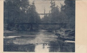WESTEL , Tennessee, PMC 1898 ; Railroad & County Bridge