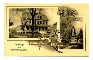 MA - South Hadley. Mrs Winchester's & Soldiers Monument