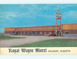Unused Pre-1980 ROYAL WAYNE MOTEL Calgary Alberta AB o0387