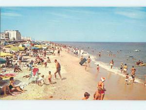 Unused Pre-1980 SCENE AT BEACH Rehoboth Beach Delaware DE M6538@