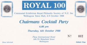 New Zealand Philatelic Society Chairman Wellington Cocktail Party Private Inv...