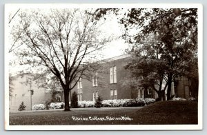 Yo! Adrian College MI~Flower Bushes in Full Bloom~Home of the Bulldogs~RPPC 1945