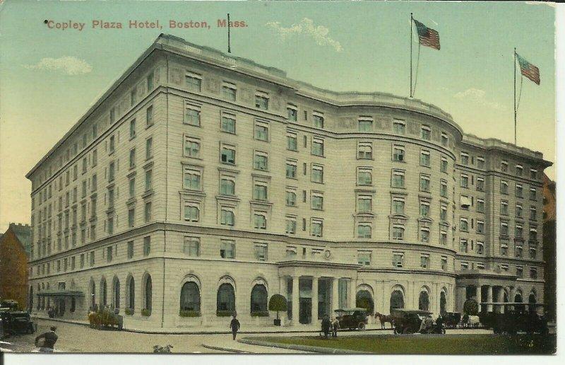 Copley Plaza Hotel, Boston, Mass.