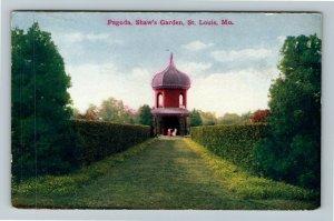 St Louis MO-Missouri, Pagoda, Shaw's Garden Vintage Postcard