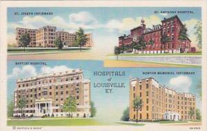 Kentucky Louisville St Joseph Infirmary St Anthony Hospital Baptist Hospital ...