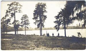 Hamilton FL Water's Edge Haines City Cancel Real Photo RPPC Postcard