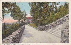 North Carolina AshevilleApproach To Grove Park Inn 1928
