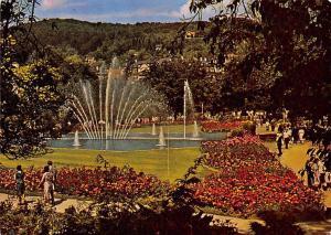 Bad Kissingen Rosengarten mit Fontaene Fountain Garden