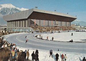 Tirol 1976 Olympics Ice Skating Circular Rink Race Austria Games Postcard