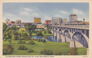 Chadbourne Street Bridge And Sky Line, San Angelo, Texas, 1930-1940s