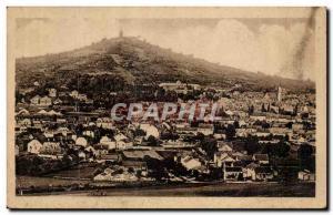 Vesoul Old Postcard General view and Notre Dame de la Motte