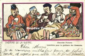 BOER WAR, Caricature, Victoria Chocolate. Infallible for Wound Healing (1902)