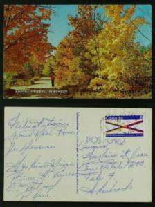 Rivère-A-Pierre Portneuf PC w open circle postmark 1970