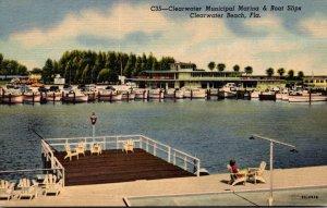 Florida Clearwater Beach Clearwater Municipal Marina & Boat Slips Curteich