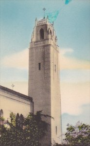 Chapel Tower Mount Saint Mary's College Los Angeles California Handcolor...