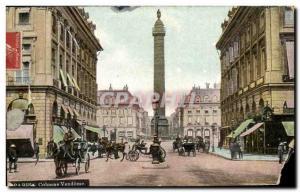 Paris Old Postcard Vendome Column
